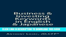 [PDF] Business And Investing Keywords In English And Japanese: Essential Vocabulary For