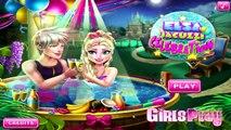 Disney Princess Elsa Jacuzzi Celebration - Frozen Video Games For Kids | #Kidsgames #Barbiegames