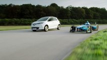 2016 Formula E Renault Z.E.16 and Renault ZOE Driving Video