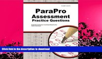 READ BOOK  ParaPro Assessment Practice Questions: ParaProfessional Practice Tests   Exam Review