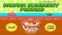 Cooking Banana Blueberry Pudding: kitchen games for girls!