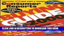 [PDF] Consumer Reports Buying Guide 2000 (Consumer Reports Buying Guide Issue, 2000) Popular Online