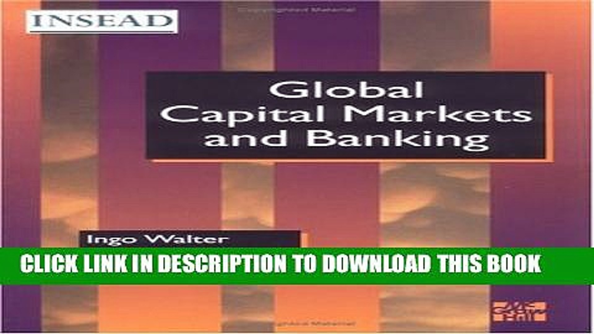 [PDF] Global Capital Markets and Banking (INSEAD Global Management) Popular Online