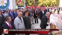 Atatürk'ün Manisa'ya Gelişinin 91. Yılı Kutlandı