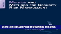 [PDF] Metrics and Methods for Security Risk Management Full Online[PDF] Metrics and Methods for