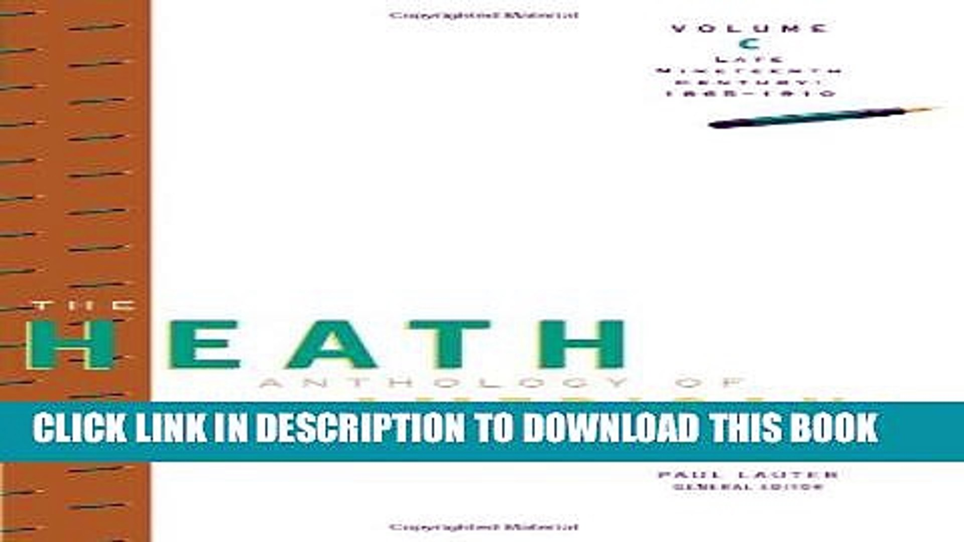 [PDF] The Heath Anthology of American Literature: Late Nineteenth Century (1865-1910), Volume C