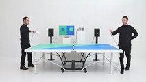 Jouer au ping-pong en respectant la rythmique d'une musique