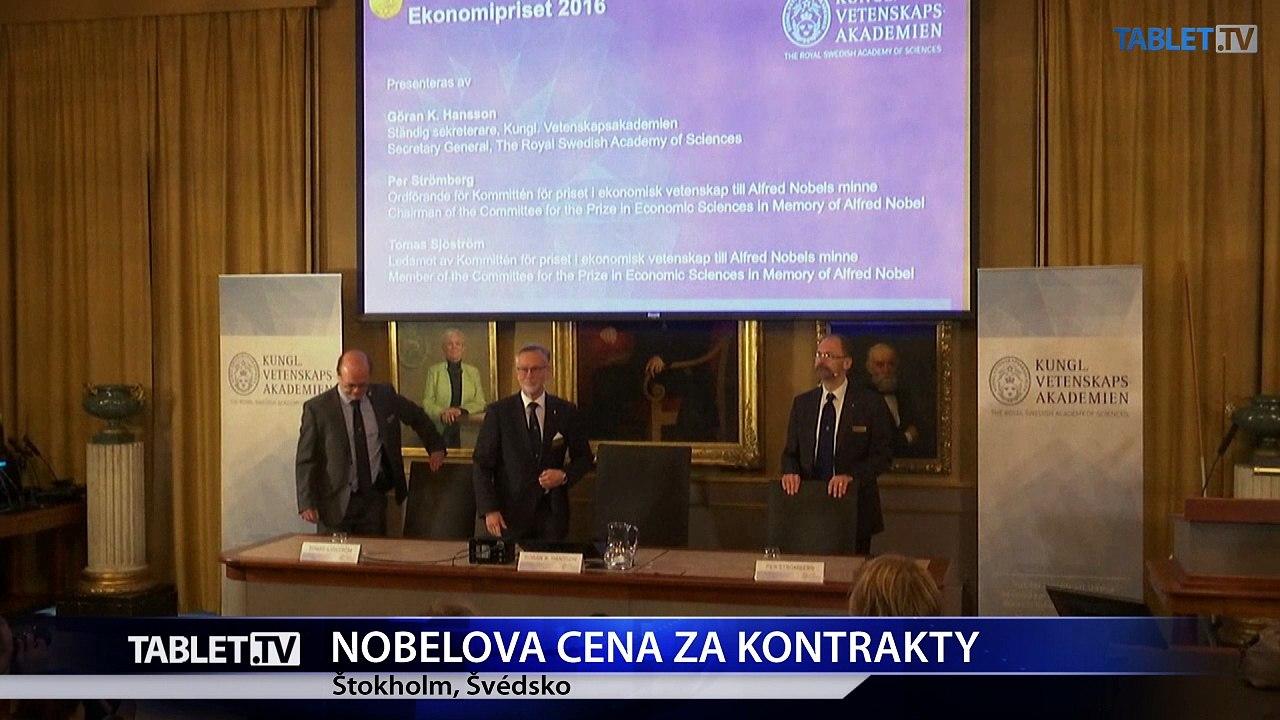 Nobelovu cenu za ekonómiu získali Oliver Hart a Bengt Holmström