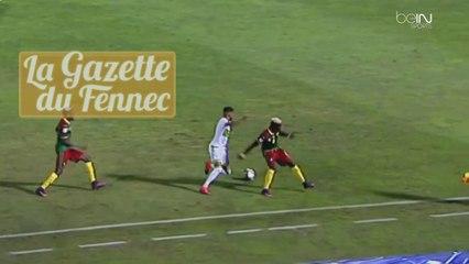 Mahrez: Superbe Petit pont derrière la jambe d'appui contre le Cameroun