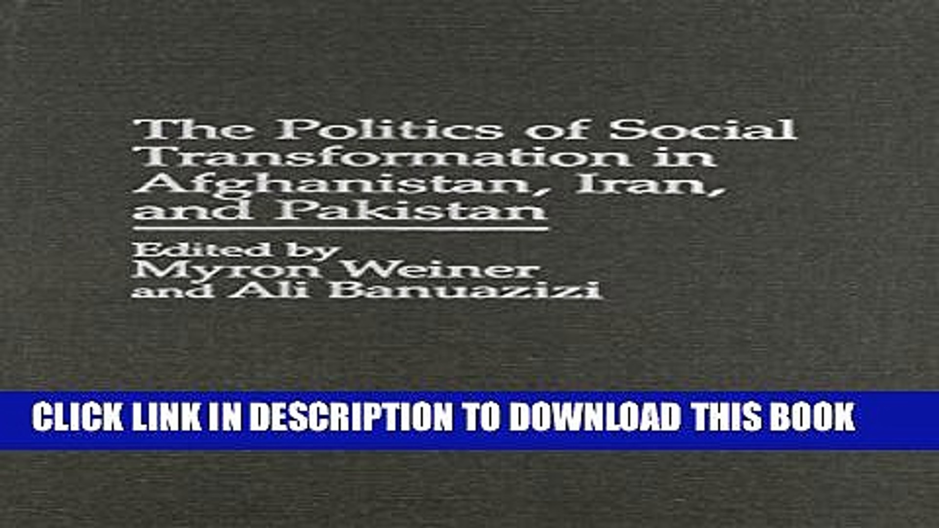 [PDF] The Politics of Social Transformation in Afghanistan, Iran, and Pakistan (Studies in African