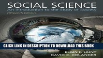 [PDF] Social Science: An Introduction to the Study of Society Full Online