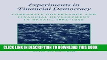 [PDF] Experiments in Financial Democracy: Corporate Governance and Financial Development in
