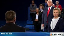 U.S. Presidential Debate 2: Donald Trump and Hillary Clinton last question about respect each other