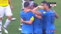 Cristian Rodríguez Equalizer Goal HD - Colombia 1-1 Uruguay - 11.10.2016