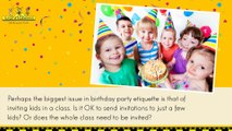 Children's Birthday Parties Etiquette | Kids Birthday Party Ideas | Kids Party Venues Sydney | Best Party Venues Sydney
