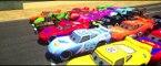 Disney Pixar Cars Lightning Mcqueen race with Rayo Dinoco Spiderman Macqueen Mater Batman Hulk