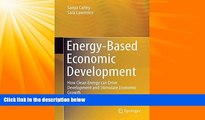 FAVORITE BOOK  Energy-Based Economic Development: How Clean Energy can Drive Development and