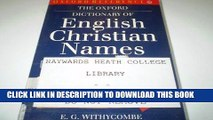 PDF] The Oxford Dictionary of English Christian Names