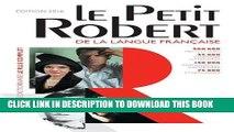 Collection Book Le Petit Robert de la langue francaise 2016 - Monolingual French Dictionary