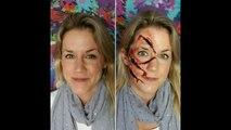 Slasher Face Scary Halloween Makeup SPFX | Primp Powder Pout