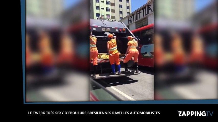 Le twerk très sexy d'éboueurs brésiliennes ravit les automobilistes