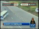 Cámaras de ECU 911 graban impactante accidente de tránsito en Esmeraldas