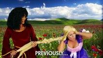 ELSA and ANNA help RAPUNZEL - Eugene is under Mother GOTHELs