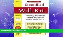 FULL ONLINE  Simplified Will Kit: National Legal Kit Series (Simplified Will Kit (W/CD))