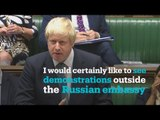 Boris Johnson has tough words for Russia after another air strike hit Syria