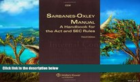 Deals in Books  Sarbanes Oxley Manual: A Handbook for the Act and SEC Rules  Premium Ebooks Online