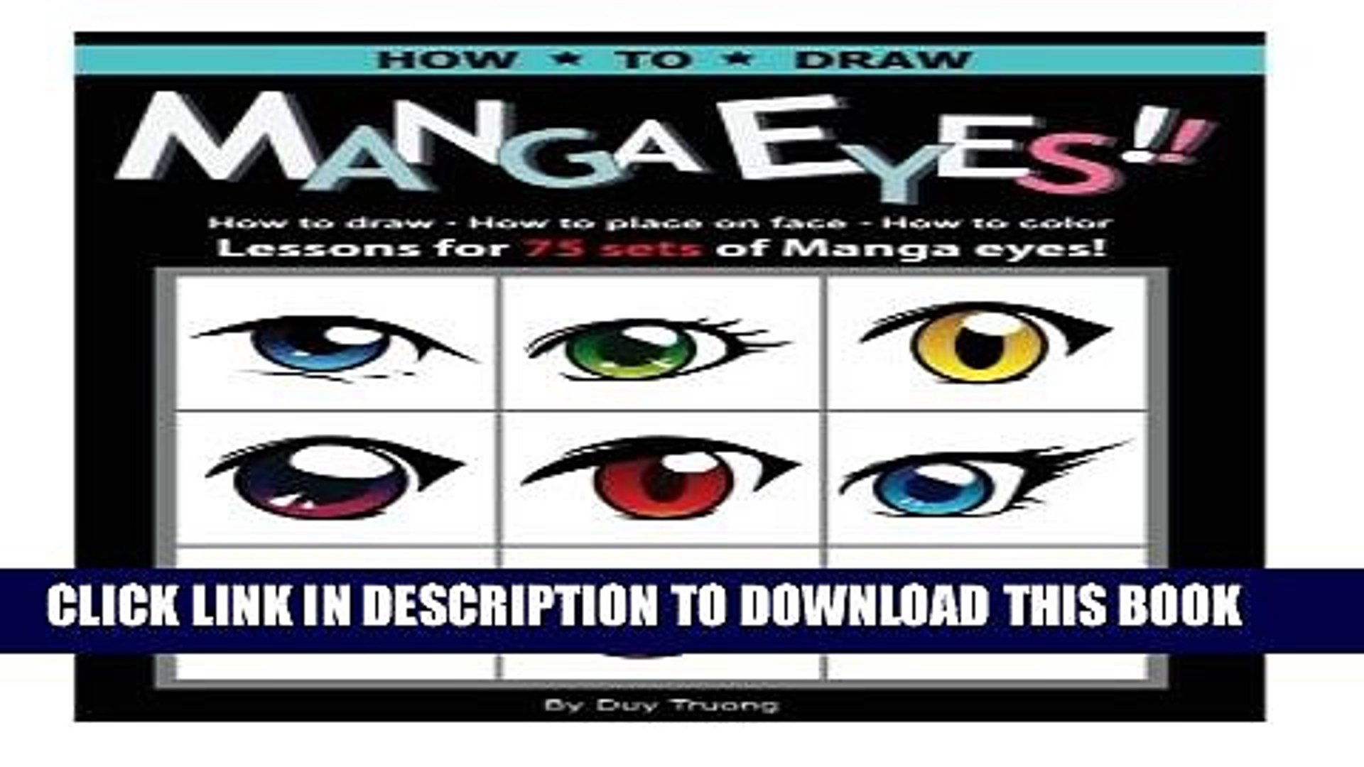 [PDF] How to draw Manga eyes!! How to Draw- How to Place on Face-How to Color Lessons for 75 Sets