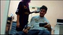 Cortando o cabelo AO VIVO - Bastidores
