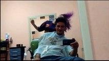 Cortando o cabelo AO VIVO - Figaro fígaro k