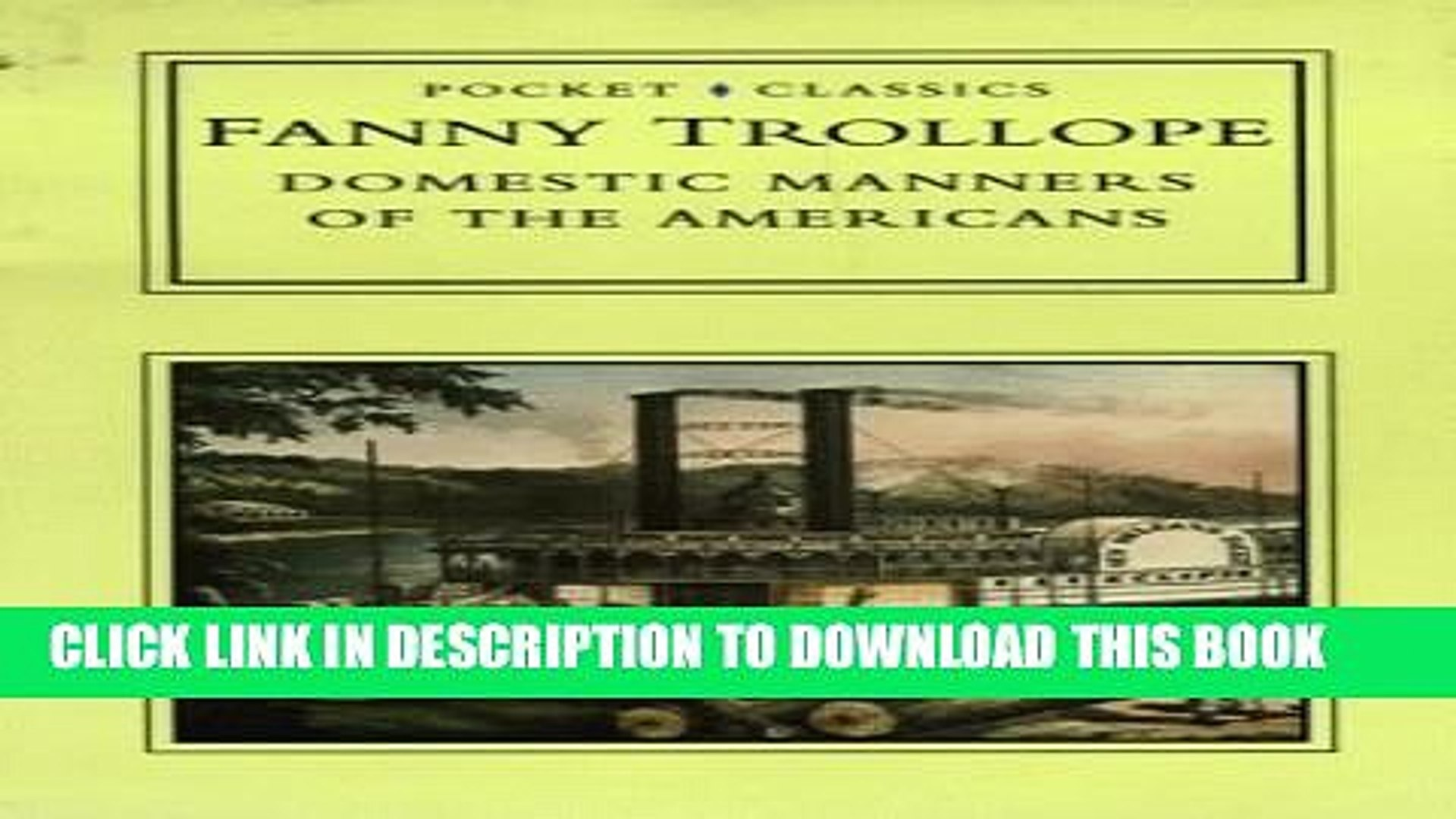 [PDF] Domestic Manners of the Americans (Pocket Classics) Full Online