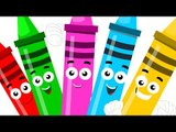 five little Crayons | crayons color song | learn colors | nursery rhymes | `