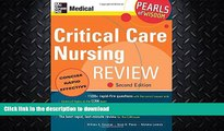 EBOOK ONLINE  Critical Care Nursing Review: Pearls of Wisdom, Second Edition  PDF ONLINE