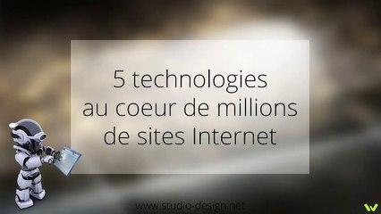 5 technologies au coeur de millions de sites internet