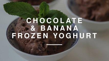 Chocolate and Banana Frozen Yoghurt   Wild Dish