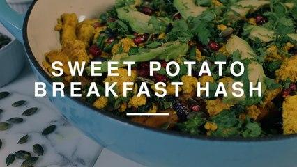 Healthy Sweet Potato Breakfast Hash at Ethos | Madeleine Shaw | Wild Dish