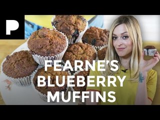 Fearne Cotton Bakes Gluten Free Blueberry Muffins