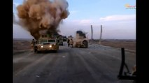 Two very close ISIS IED explosions filmed Iraqi soldiers in Anbar