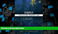 Big Deals  European Intellectual Property Law: Text, Cases and Materials  Best Seller Books Most
