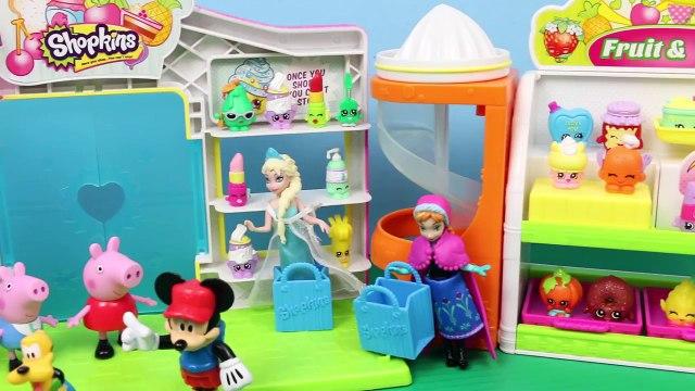 Shopkins Mickey Mouse Clubhouse Peppa Pig Disney Frozen Elsa Anna Minnie Open Surprise