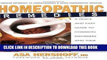 [PDF] Homeopathic Remedies: A Quick and Easy Guide to Common Disorders and Their Homeopathic