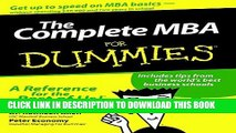 [PDF] The Complete MBA For Dummies Full Colection