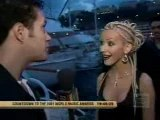 Christina Aguilera @ WMA 2001 Preparty