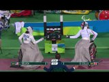 Wheelchair Fencing| DELUCA v COLLIS| Women's Individual Epee A | Rio 2016 Paralympic Games