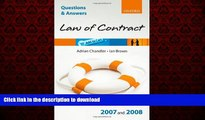 DOWNLOAD Q and A: Law of Contract 2007 - 2008 (Blackstone s Law Questions and Answers) READ EBOOK