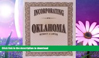 GET PDF  Incorporating in Oklahoma Without a Lawyer  GET PDF