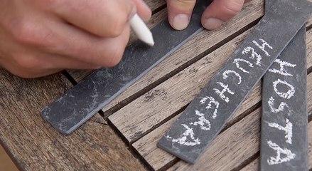 DIY : faites vos étiquettes en ardoise